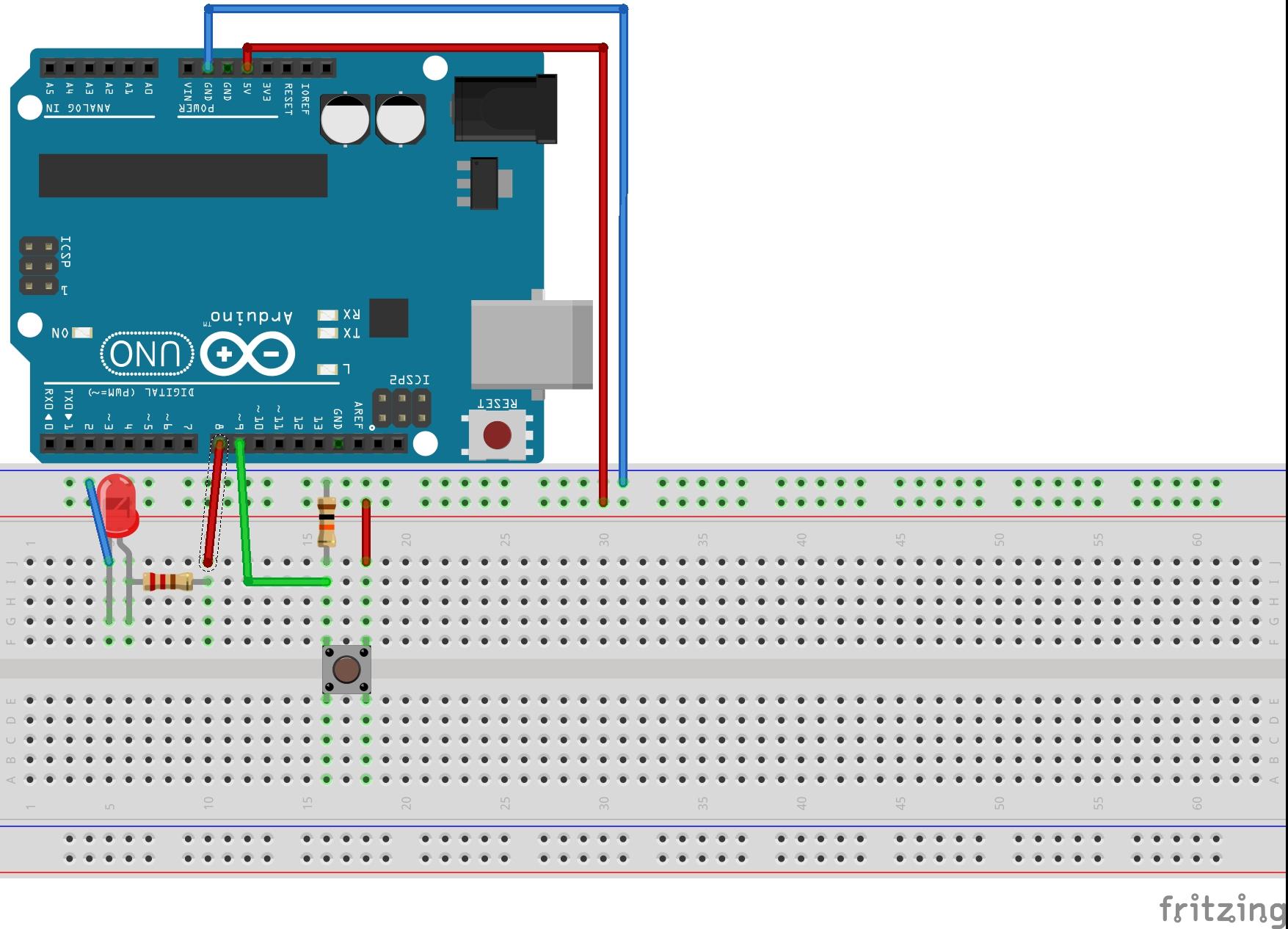 Schema Elettrico Pulsante : Guida arduino utilizzo di un pulsante pietro