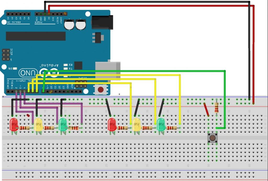 Schema Elettrico Per Semaforo : Guida arduino costruiamo un semaforo di pietro