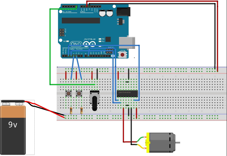 Schemi Elettrici Arduino : Controllo di velocità e verso di un motore dc con arduino